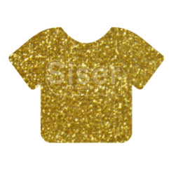 Glitter Heat Transfer Vinyl - Old Gold