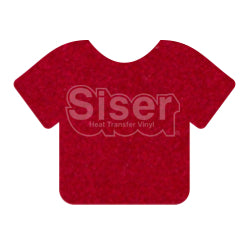 Siser StripFlock Heat Transfer Vinyl - Red