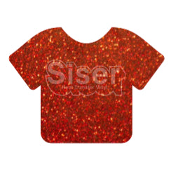 Glitter Heat Transfer Vinyl - Red
