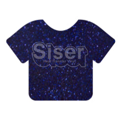 Glitter Heat Transfer Vinyl - Royal Blue