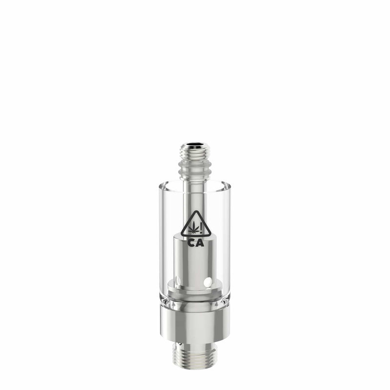 AVD Glass Vape Cartridge Base with California THC Warning Icon (0.5 ml, 1.0mm, CA!)