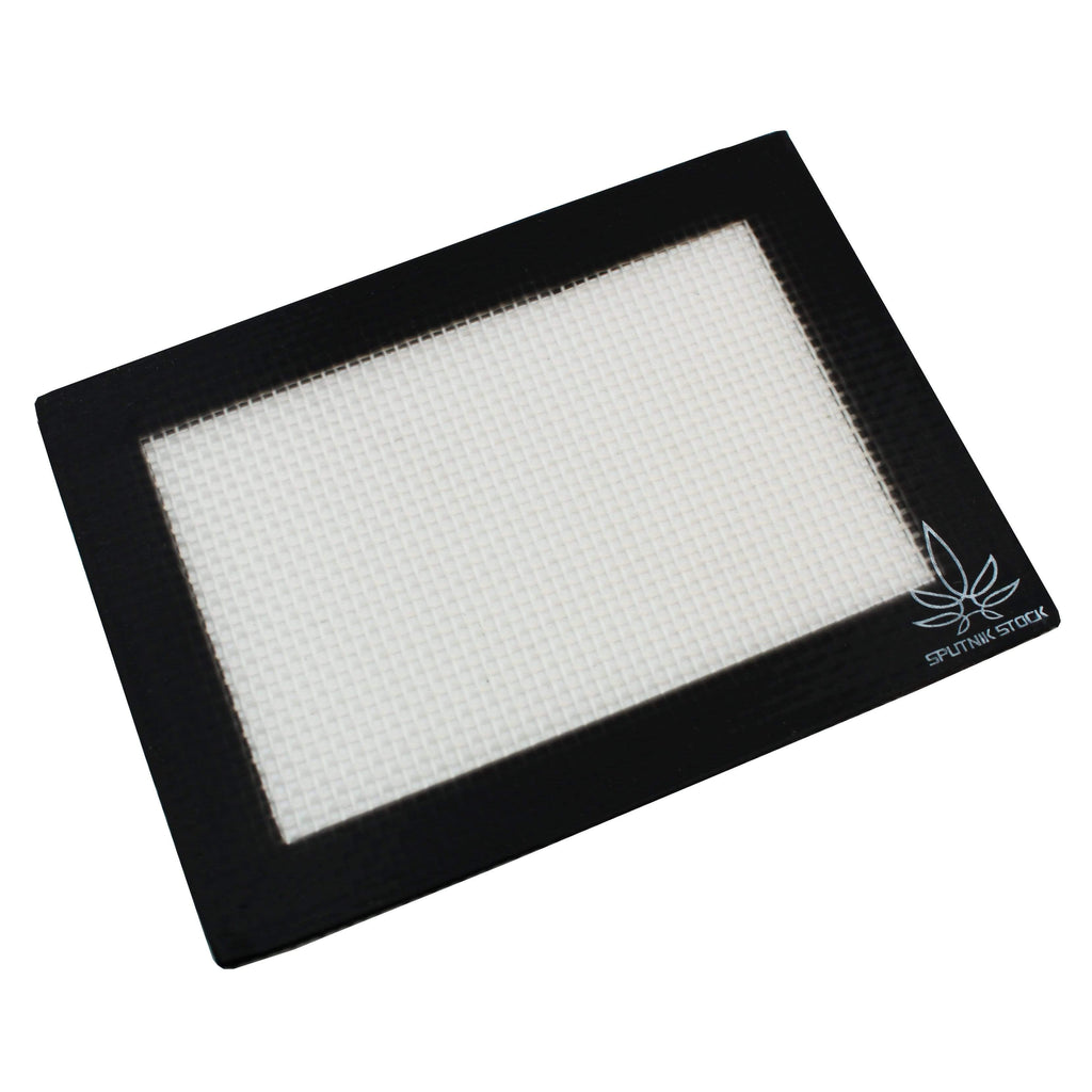 Black Silicone Concentrate Recovery Mat Small