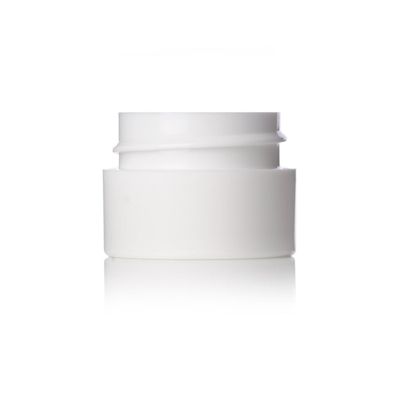 Brand King packaging-container White 1/4 oz PP Double Wall Straight Base Jar with 33-400 neck