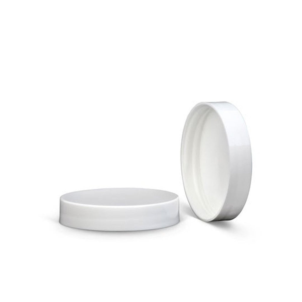 Brand King packaging-container White Foam Lined Smooth Cap 58mm