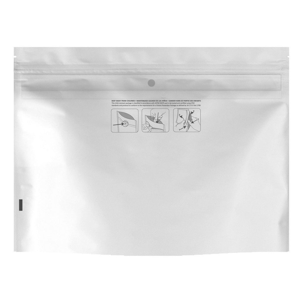 Dymapak packaging-container WHITE DymaPak Child Resistant Exit Bag (Small)