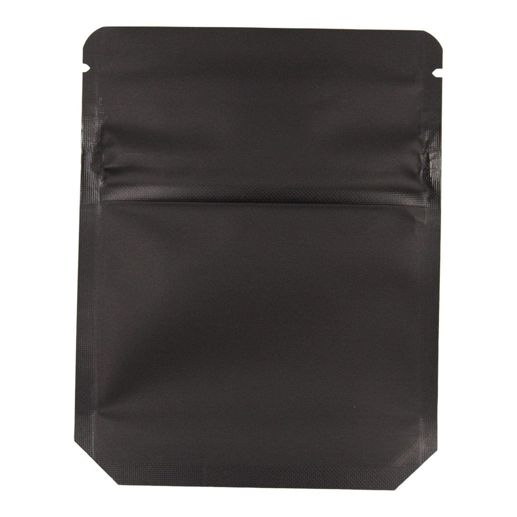 Matte Black Bag King Child-Resistant Clear Front Mylar Bag (1 gram)