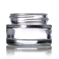 Brand King packaging-container Clear Low-Profile Glass Cylinder Jar (1/2 oz)
