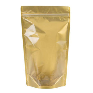 Brand King packaging-container Gold Stand Up Zipper Bag (1 Ounce +)