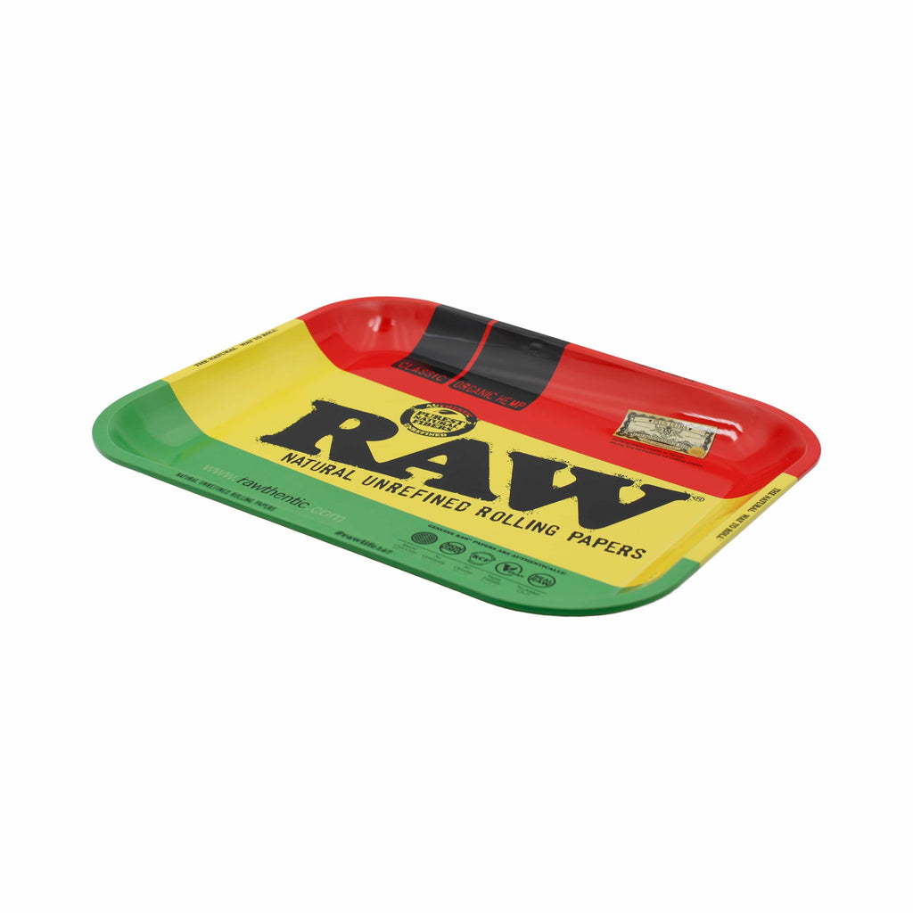"RAW Large Metal Rolling Tray (Rasta) 14"" x 11"""