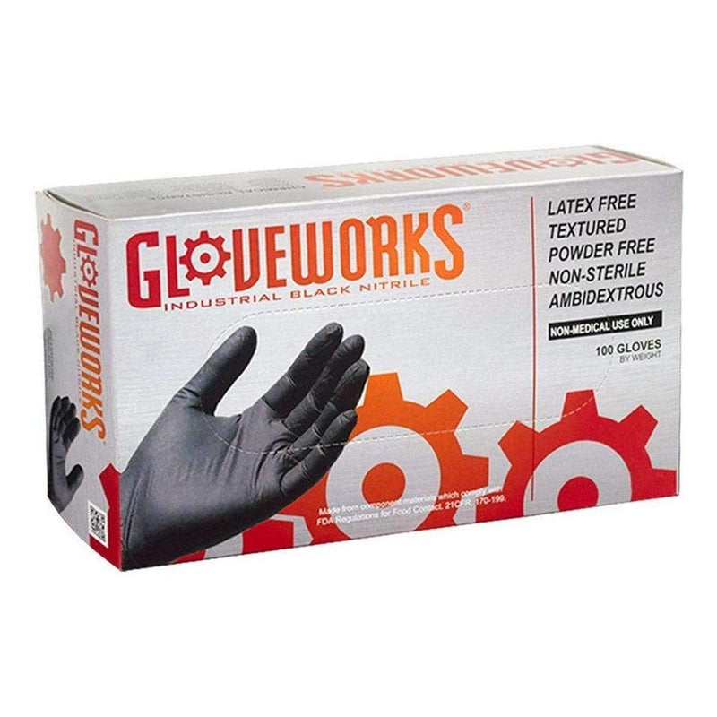 Small Gloveworks Premium Black Nitrile Disposable Gloves