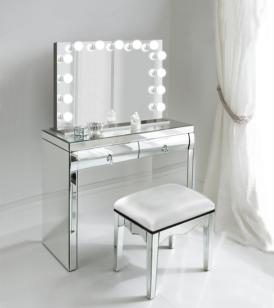 Monroe White Makeup Glam LED Hollywood Mirror – Glam Mirrors