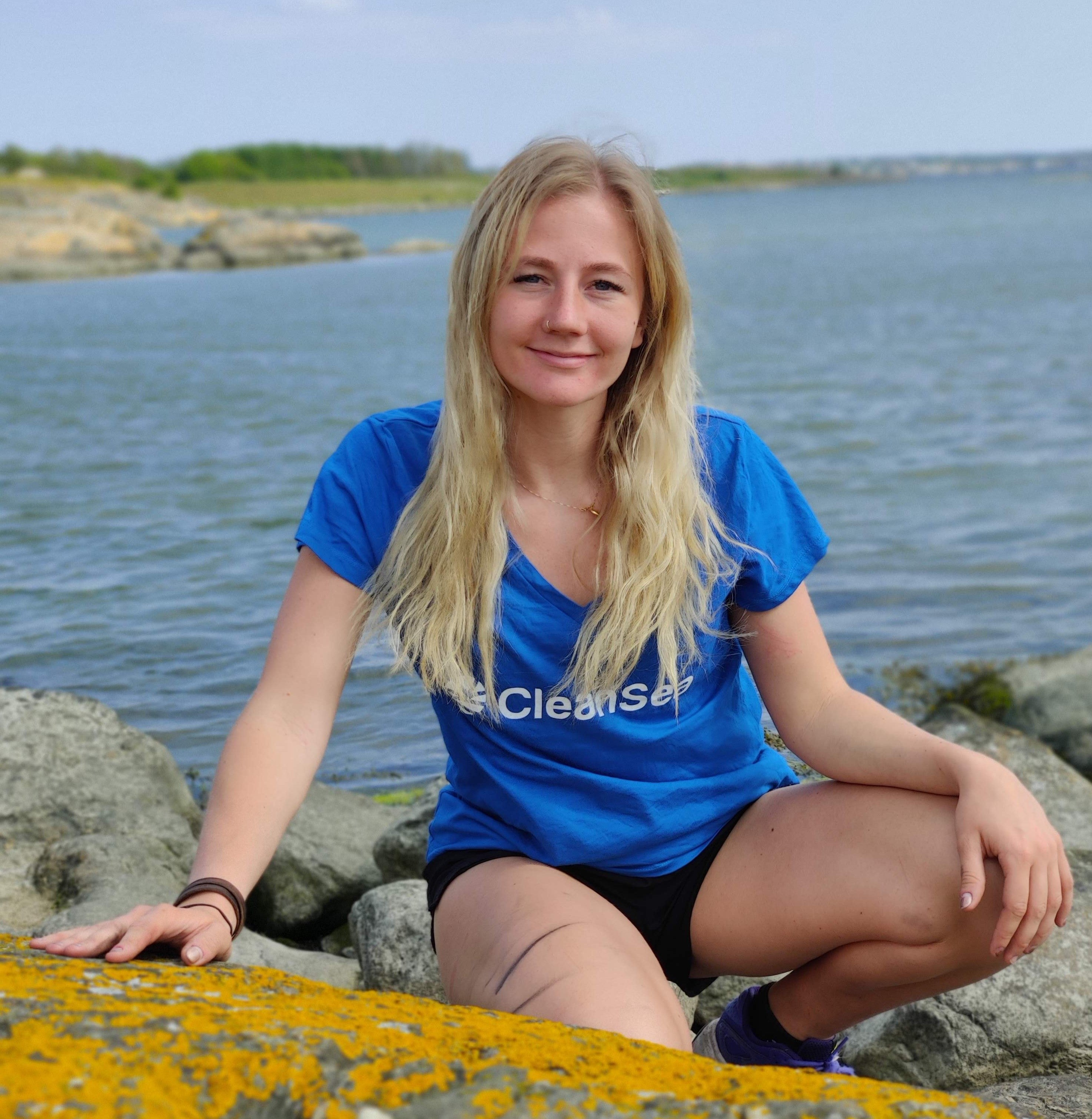 Albina Lampa, part of the CleanSea team