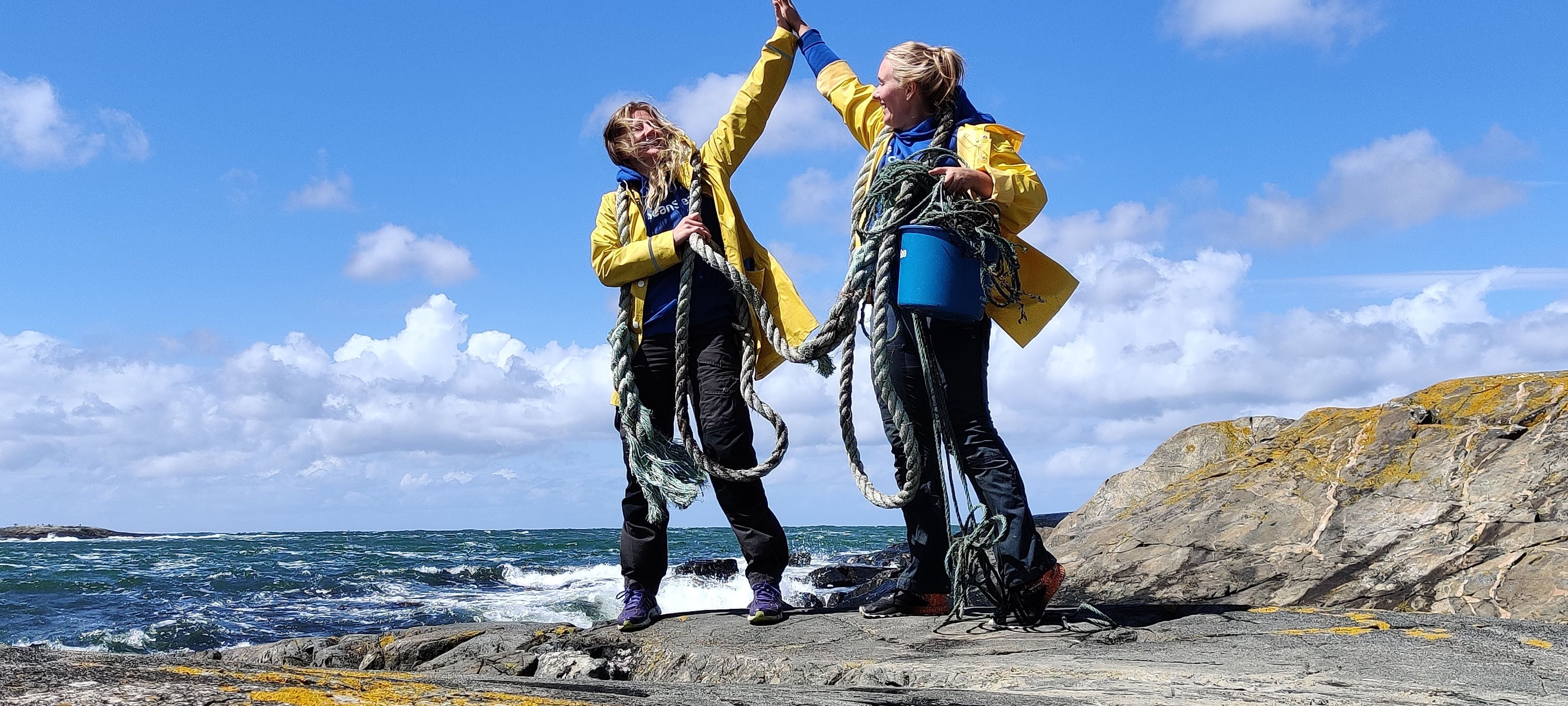 CleanSea removing discarded fishing gear from the ocean, Sweden