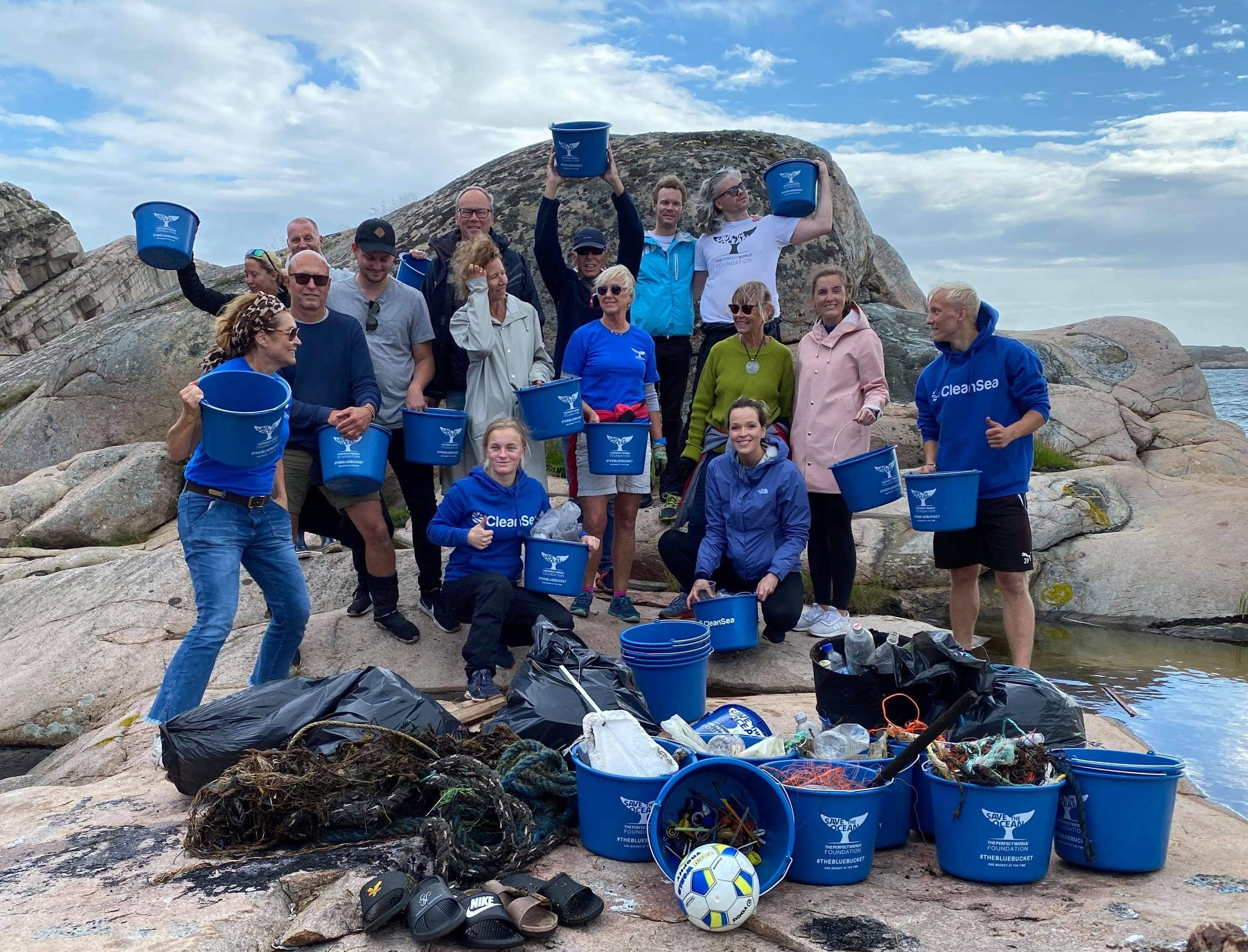 CleanSea and The Perfect World Foundation coastal cleanup in Bohuslän, Sweden