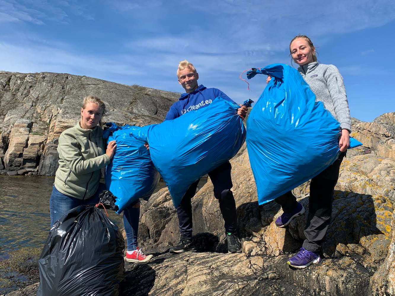 Lukas, Ellen and Albina, CleanSea removing plastic from the ocean