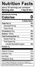 All In hot sauce nutritional info