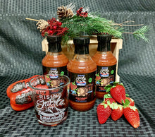 Buzz N Berry strawberry bourbon BBQ sauce.