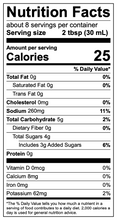 Buzz N Berry nutritional facts
