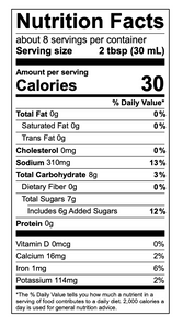 Fiery Q nutritional facts
