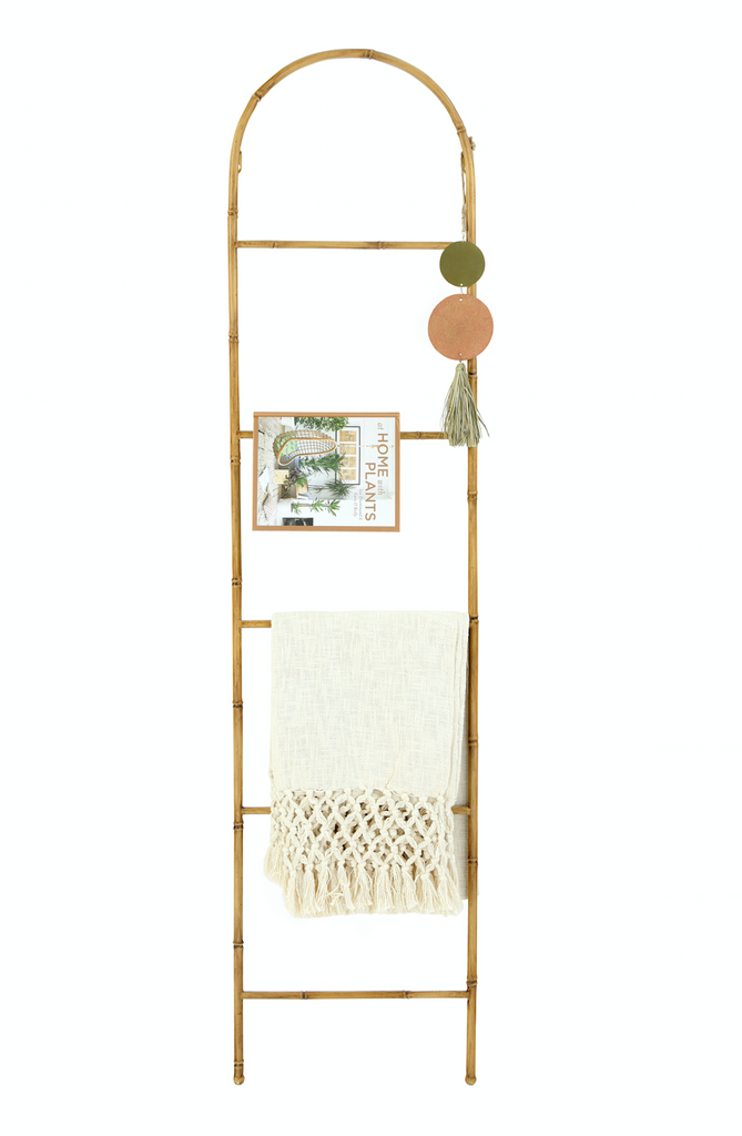 "Bamboo Ladder with Arch (68"" Tall)"