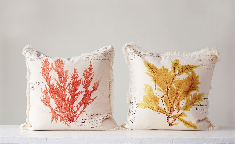 Coral and Yellow Reef Pillows