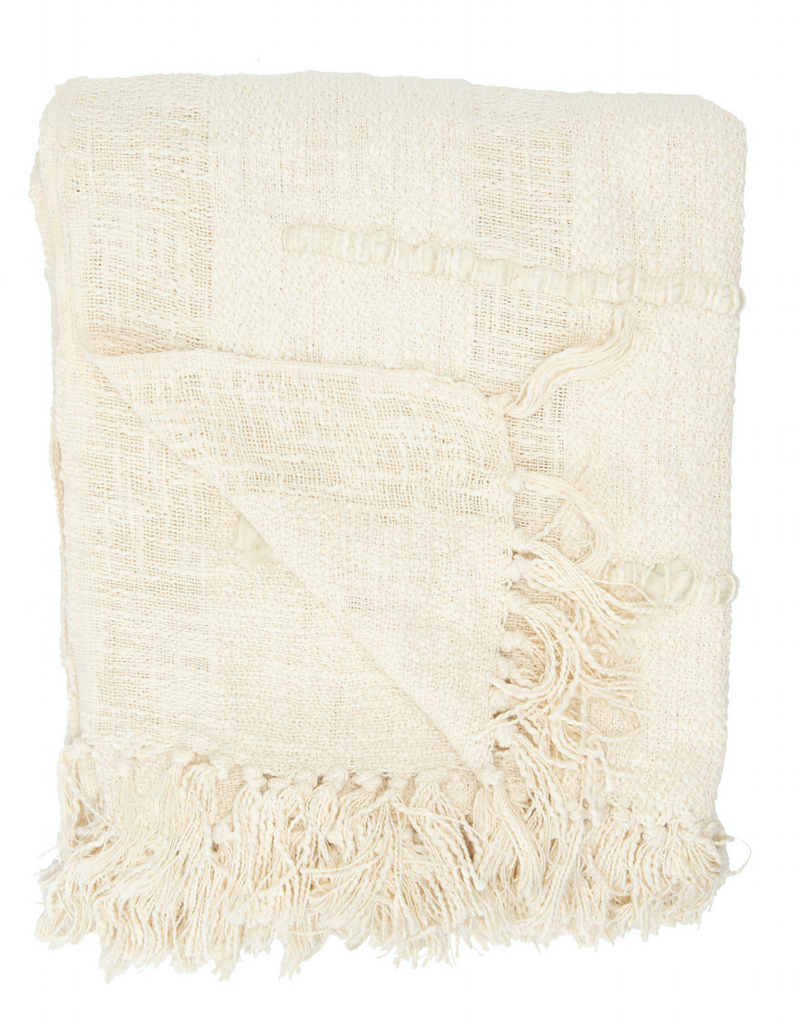 Chenille Throw with Fringe