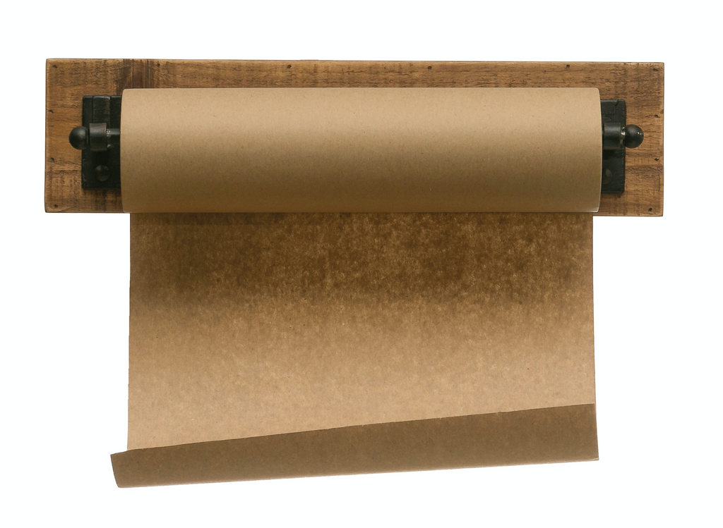 Rustic Paper Roll on Wooden Wall Bracket