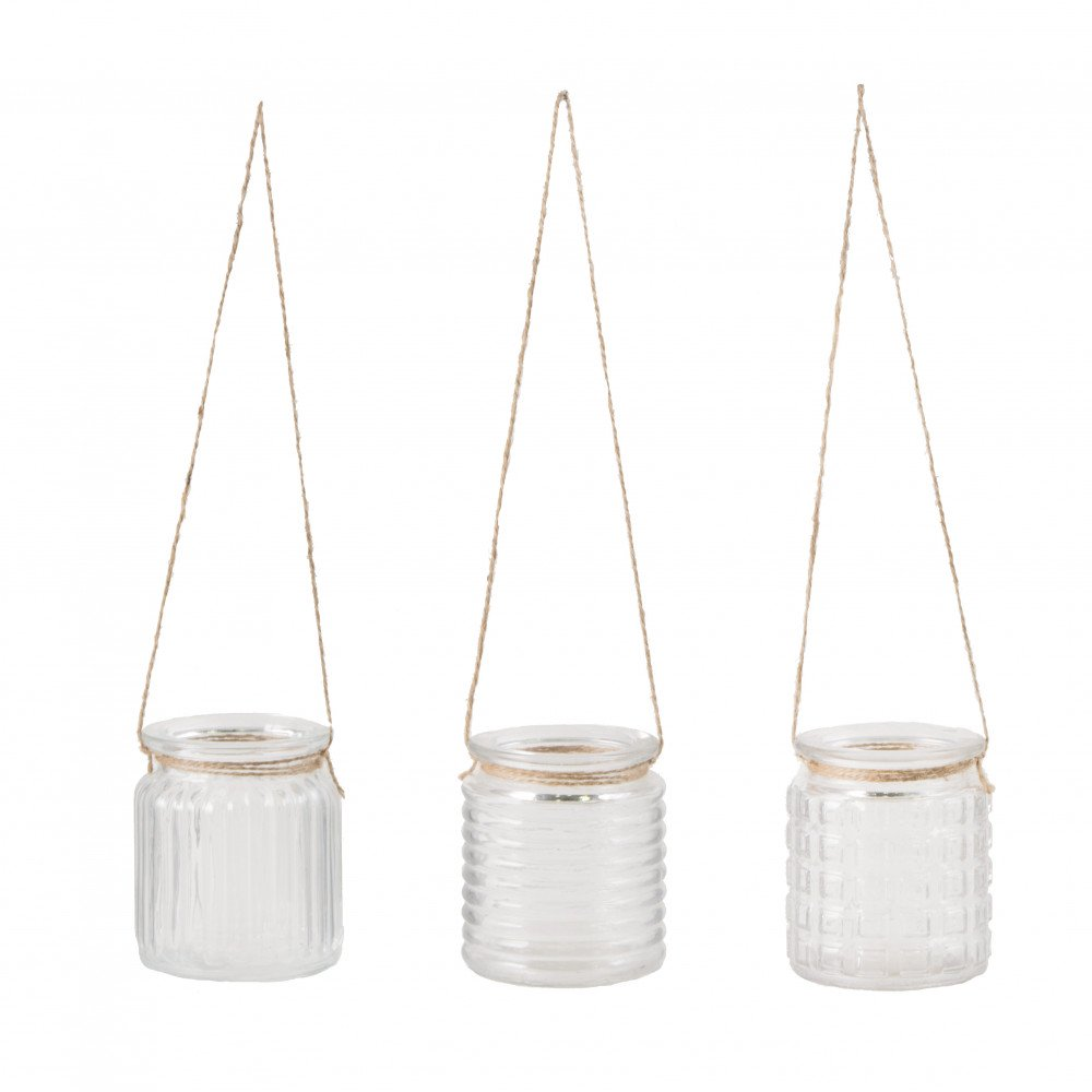 Hanging Garden Glass Votive - Set of 3