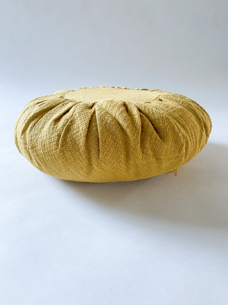 "18"" Round Gathered Design Pillow"