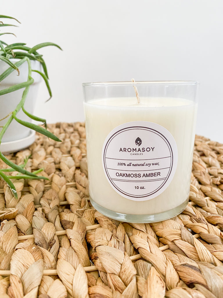 Oakmoss Amber Candle 10 oz