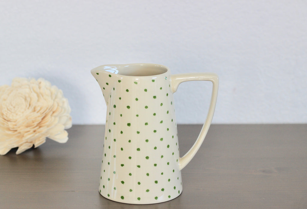 Pitcher with Green Dot