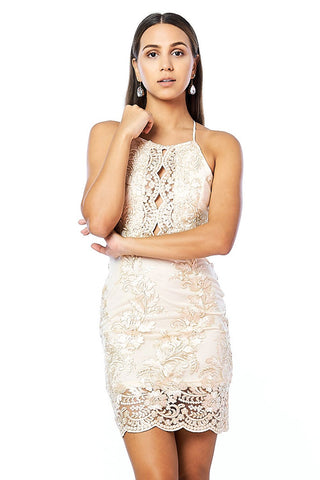 A Night To Egypt Lace Mini Short Dress