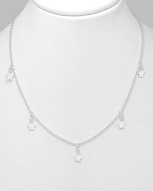 925 Silver Necklace |  Stars