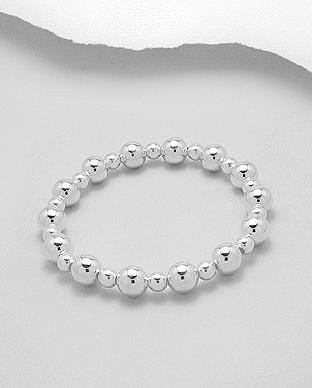 925 Silver Ball Bracelet | Mini and Maxi