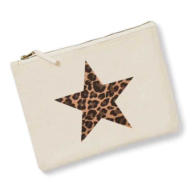 Leopard Star Pouch