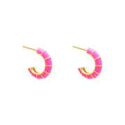 Huggies Earrings | Pink