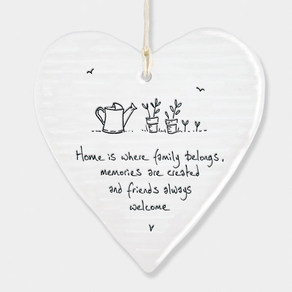 We Will Be New Friends ceramic hanging sign