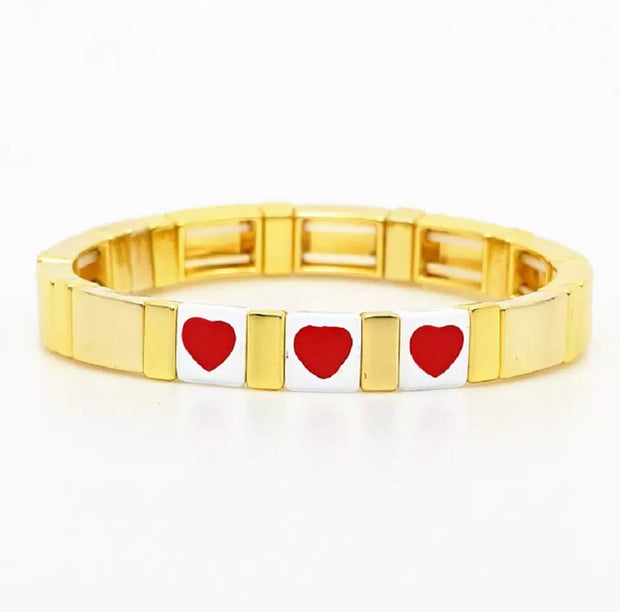 All Heart Tile Bracelet | Gold