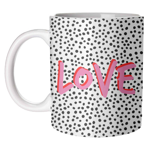 LOVE Polka Dot Mug