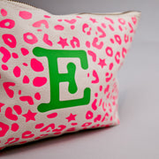 Bexter & Gini Personalised Wash Bag | Stardust Leo Neon Pink