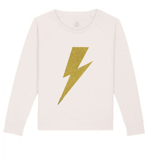 Bolt Sweatshirt | Vintage White with Gold