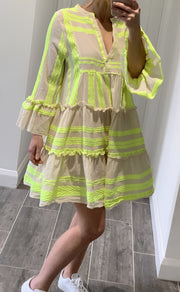 Cici Dress | Fluro Yellow