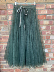 Polka Dot Maxi Tulle Skirt | Awesome Khaki