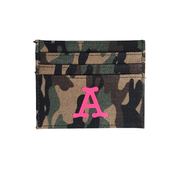 Camo Card Holder | Neon Pink