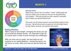 Camp LTL Daily Weight Loss Motivation Cards: Month 1