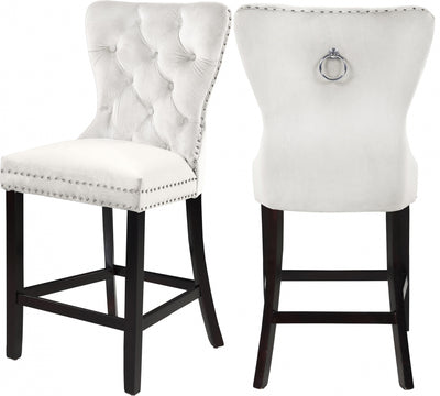 NIKKI VELVET COUNTER STOOLS (SET OF 2)