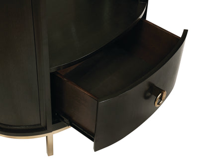 Vino 1-Drawer Oval Nightstand