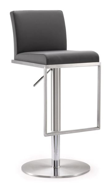 Amalfi Grey Steel Adjustable Stools