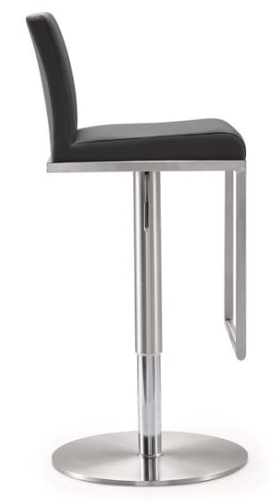 Amalfi Grey Steel Adjustable Stools - riteathomeatlanta