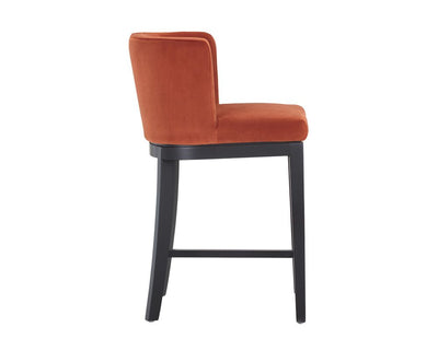 Ayden Counter Stool - Autumn Orange - riteathomeatlanta
